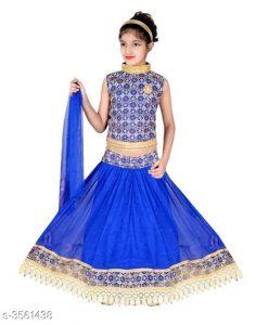 Princess Adorable Kid's Girl's Lehanga Choli Sets 1