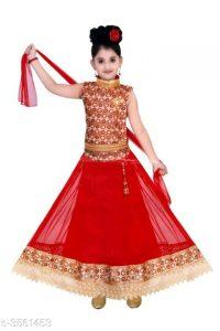 Princess Adorable Kid's Girl's Lehanga Choli Sets 4