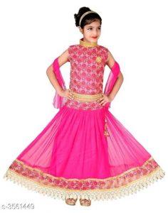 Princess Adorable Kid's Girl's Lehanga Choli Sets 3
