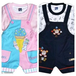 Cute Elegant Printed Kid's Clothing Sets 1
